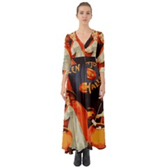 Haloweencard2 Button Up Boho Maxi Dress