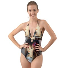 Mary Halter Cut Out One Piece Swimsuit