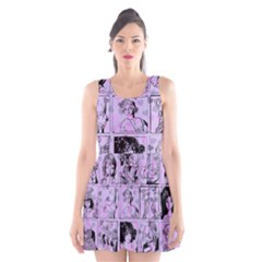 Lilac Yearbook 1 Scoop Neck Skater Dress