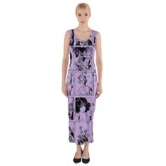 Lilac Yearbook 1 Fitted Maxi Dress