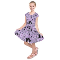 Lilac Yearbook 1 Kids  Short Sleeve Dress