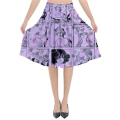 Lilac Yearbook 1 Flared Midi Skirt