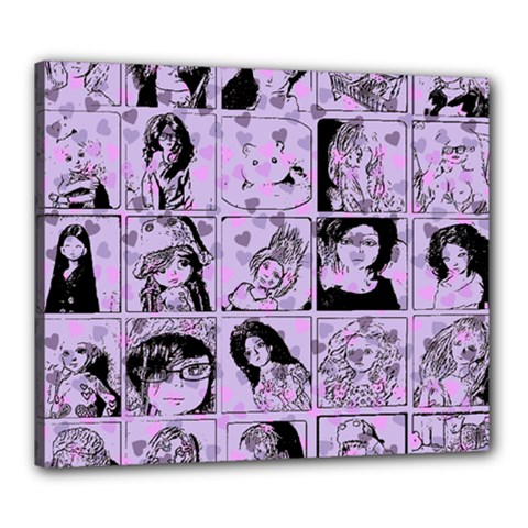Lilac Yearbook 2 Canvas 24  X 20
