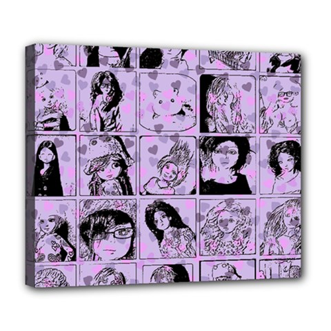 Lilac Yearbook 2 Deluxe Canvas 24  X 20