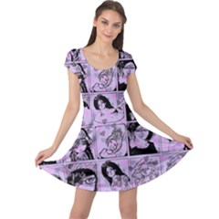 Lilac Yearbook 2 Cap Sleeve Dress