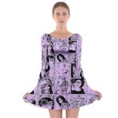 Lilac Yearbook 2 Long Sleeve Skater Dress