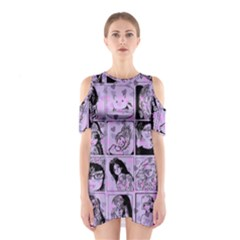Lilac Yearbook 2 Shoulder Cutout One Piece