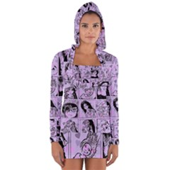 Lilac Yearbook 2 Long Sleeve Hooded T Shirt