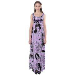 Lilac Yearbook 2 Empire Waist Maxi Dress