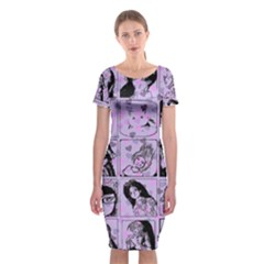 Lilac Yearbook 2 Classic Short Sleeve Midi Dress