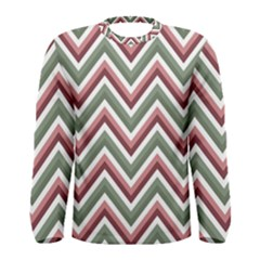 Chevron Blue Pink Men s Long Sleeve Tee