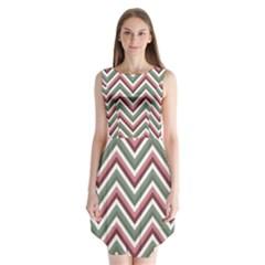 Chevron Blue Pink Sleeveless Chiffon Dress