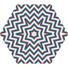 Zigzag Chevron Pattern Blue Magenta Mini Folding Umbrellas
