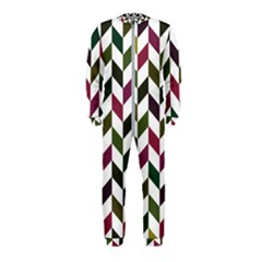 Zigzag Chevron Pattern Green Purple Onepiece Jumpsuit (kids)