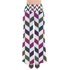 Zigzag Chevron Pattern Green Purple Pants