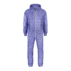 Dot Blue Hooded Jumpsuit (kids)