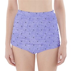 Dot Blue High Waisted Bikini Bottoms