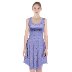 Dot Blue Racerback Midi Dress
