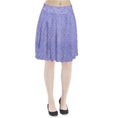 Dot Blue Pleated Skirt