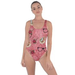 Vintage Glasses Rose Bring Sexy Back Swimsuit