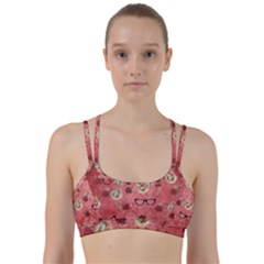 Vintage Glasses Rose Line Them Up Sports Bra
