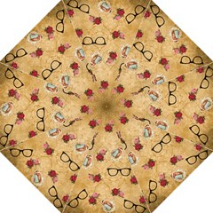 Vintage Glasses Beige Straight Umbrellas
