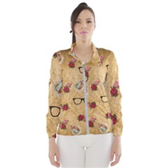 Vintage Glasses Beige Wind Breaker (women)