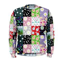 Dino Quilt Men s Sweatshirt
