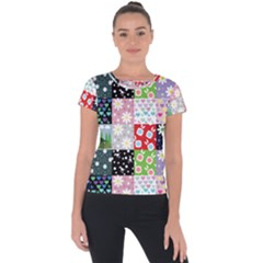 Dino Quilt Short Sleeve Sports Top