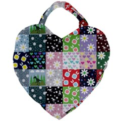 Dino Quilt Giant Heart Shaped Tote