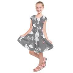 Chalkboard Kids Kids  Short Sleeve Dress