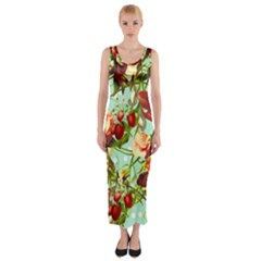 Fruit Blossom Fitted Maxi Dress