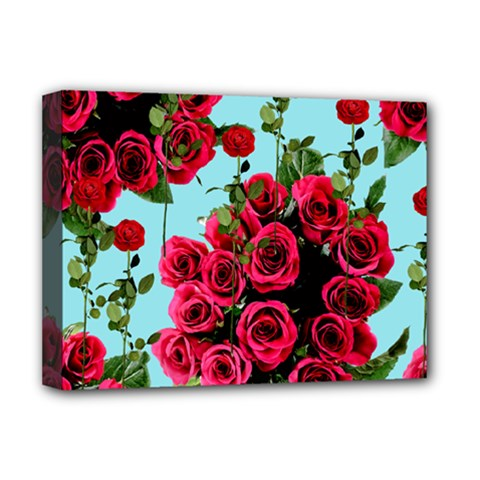 Roses Blue Deluxe Canvas 16  X 12