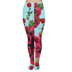 Roses Blue Women s Tights