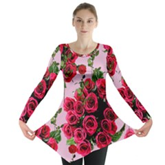 Roses Pink Long Sleeve Tunic
