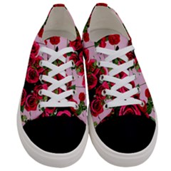 Roses Pink Women s Low Top Canvas Sneakers