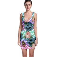 Floral Waves Bodycon Dress