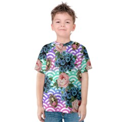 Floral Waves Kids  Cotton Tee