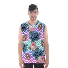 Floral Waves Men s Basketball Tank Top