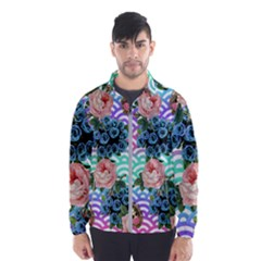Floral Waves Wind Breaker (men)