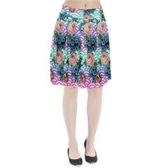 Floral Waves Pleated Skirt