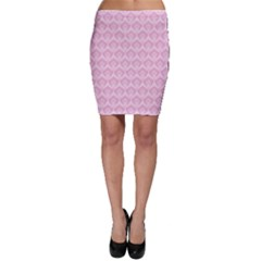 Damask Pink Bodycon Skirt