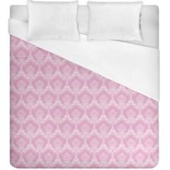 Damask Pink Duvet Cover (king Size)