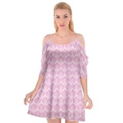 Damask Pink Cutout Spaghetti Strap Chiffon Dress