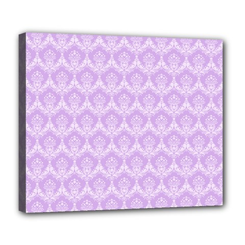 Damask Lilac Deluxe Canvas 24  X 20