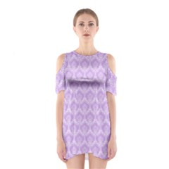 Damask Lilac Shoulder Cutout One Piece