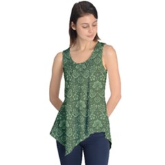 Damask Green Sleeveless Tunic