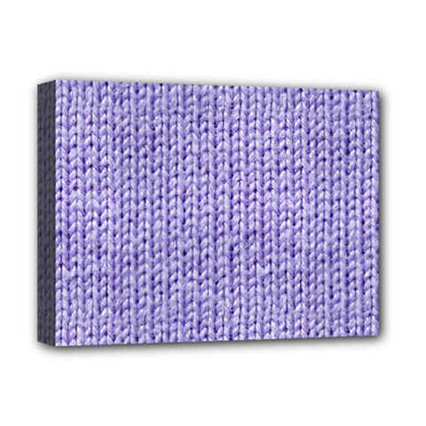 Knitted Wool Lilac Deluxe Canvas 16  X 12