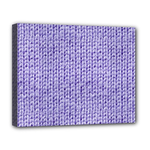 Knitted Wool Lilac Deluxe Canvas 20  X 16