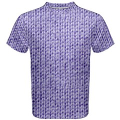 Knitted Wool Lilac Men s Cotton Tee